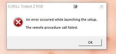 Trident Z RGB Software Error